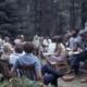 A photograph from 1976 depicting the Adirondack Park Agency (APA) Meeting at Elk Lake.