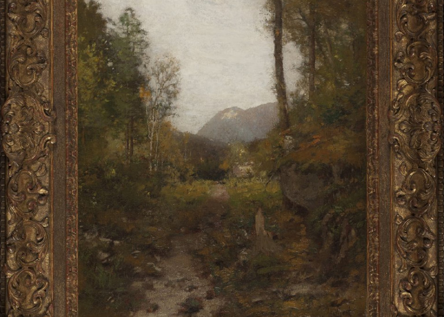 A cropped image of a painting by Adirondack landscapist Alexander H. Wyant.